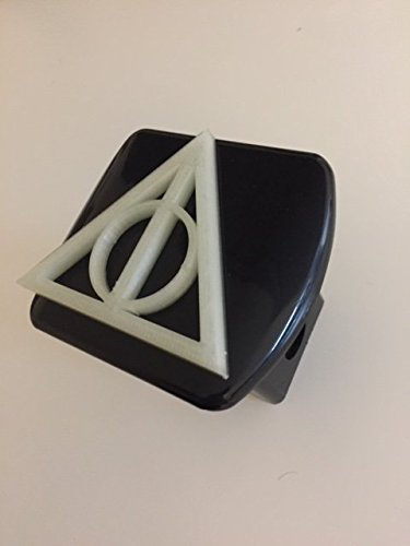 Deathly Triangle in 3D - 2 inch Trailer Hitch Cover Black White ( Glow in the Dark ) - Super Hero - Potter Harry 3d Trailer