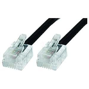 Cablematic - Cable Telefónico 4-Hilos RJ11 (5m)