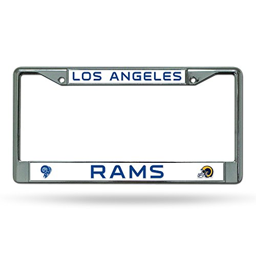 Rico Industries Los Angeles Rams Chrome License Plate Frame by Rico