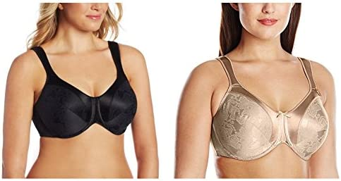 Bali Women's Satin Tracings Minimizer Underwire Bra