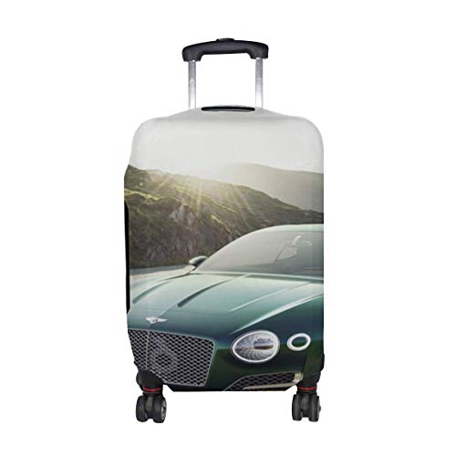 - 2015 Bentley Exp 10 Green Front View Pattern Print Travel Luggage Protector Baggage Suitcase Cover Fits 18-21 Inch Luggage