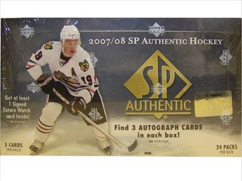 2007/08 Upper Deck SP Authentic NHL Hockey HOBBY box