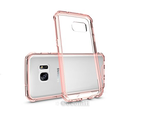Galaxy S7 Case, Cocomii Modern Armor NEW [Crystal Clarity] Premium HD Clear Anti-Scratch Shockproof Hard Bumper Shell [Slim Fit] Full Body Ultra Thin Lightweight Transparent Cover Samsung (Crystal Pink)