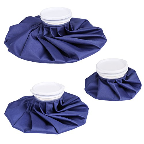 Amariver Reusable Ice Bag Ice Pack For Compress Therapy, Blue 6'' 9'' 11'' Inch Leakproof Cool and Hot Ice Bags To Fix Muscle Strains & Aches (3 Pack) by Amariver (Image #8)