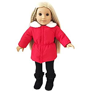 Amazon.com: Dress Along Dolly Winter Doll Clothes American