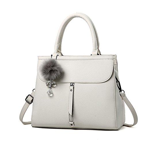 (G-AVERIL) 2018 New Wave Packet Messenger Bag Ladies Handbag Female Bag Handbags for Women White