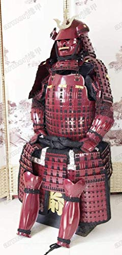 (Wearable Japanese Armor Suit Rüstung Samurai Iron Kiritsuke Iyo-Zane Yoroi Red O39)