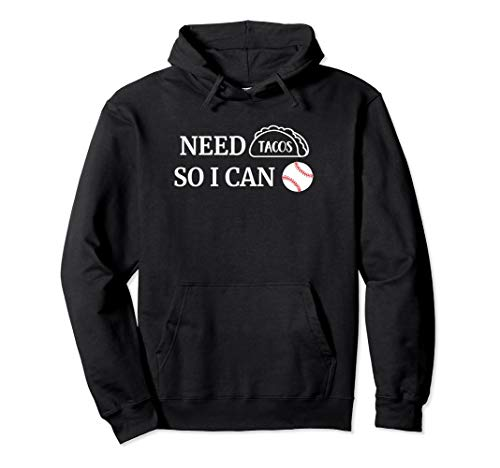 Baseball and Tacos Hoodie Taco Lover Gifts Spring Training