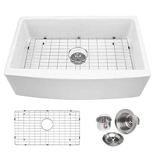 Farmhouse Kitchen 33 Farmhouse Kitchen Sink – Enbol 33×21 Inch White Porcelain Apron Front Undermount Kitchen Sink Single Bowl PA3321 farmhouse kitchen sinks