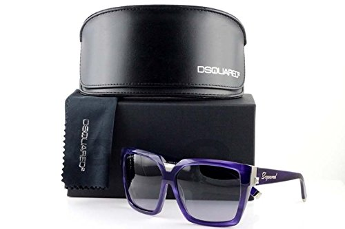 (Dsquared2 Dsquared Dq0046 81B Womens Shiny Violet Framed Gradient Smoke Lens Style: DQ0046-81B Size: OS)