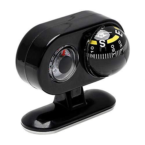 IMFUN- 2 in 1 Compass Thermometer Car Ornaments Direction Dashboard Ball Vehicle Automotive Accessories Guide Ball Car-Styling
