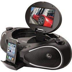 iLive IBPD882B CD/DVD/iPhone Boombox with 7-Inch TFT Display