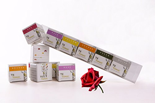 Té Tonic 6 Infusions gift set for flavoring your Gin & Tonic cocktail. With fresh spices, herbs and flowers 100% Natural ingredients, Nr 1 Best seller as Gin gift in Europe