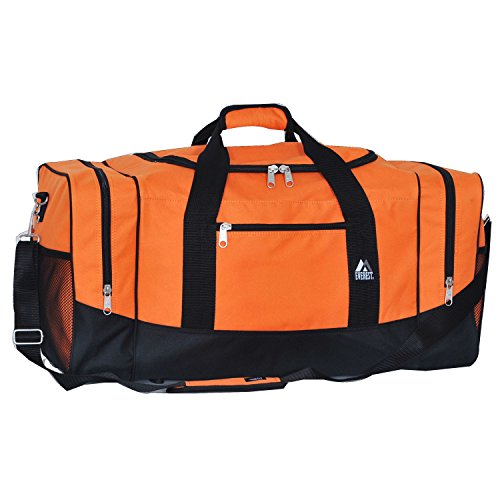 Everest Sporty Travel Duffel Bag, Orange by EVEREST