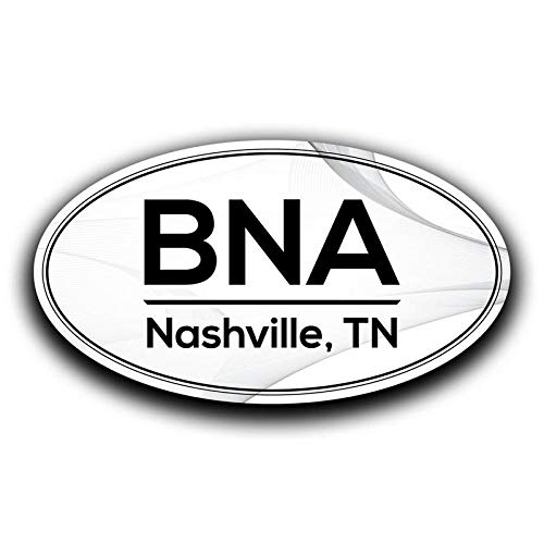 More Shiz BNA Nashville Tennessee Airport Code Decal Sticker Home Travel Car Truck Van Bumper Window Laptop Cup Wall - Two 5.5 Inch Decals - MKS0545