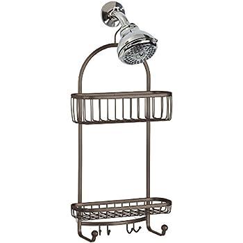 InterDesign York Extra Large Shower Caddy   Bathroom Storage Shelves For  Shampoo, Conditioner And Soap, Bronze 61981
