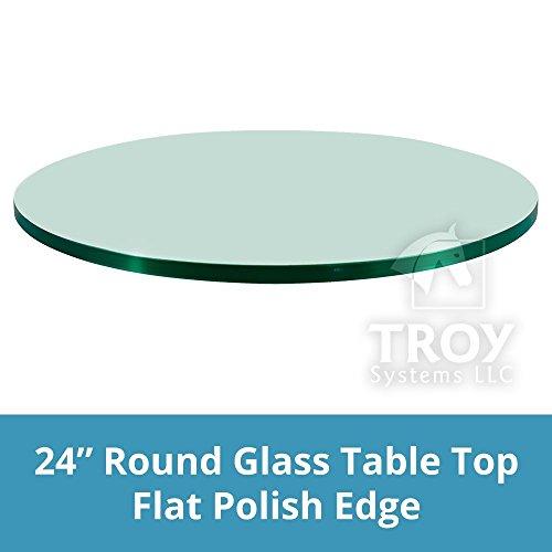 troysys redondo mesa en la parte superior de vidrio templado transparente 3/20.3cm vidrio de de grosor con filo pulido...