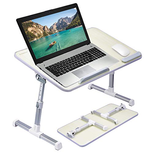 Portable Wireless Notebook ([Large Size] Avantree Adjustable Laptop Bed Table, Portable Standing Desk, Foldable Sofa Breakfast Tray, Notebook Stand Reading Holder for Couch Floor Kids - Honeydew)