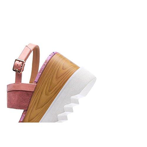 Piattaforma Kjjde Pattini Delle Donne Pattini Rampicanti Wsxy-l0407 Sandali Sandali Dellinarcamento Cinghia Fragile Scarpe Cuneo Tallone Rosa