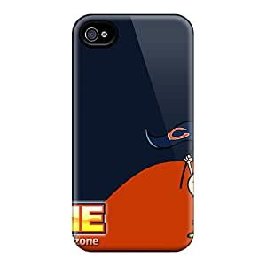 Shock Absorption Hard Phone Case For Iphone 4/4s (mta5573rXlH) Allow Personal Design Colorful Chicago Bears Pictures