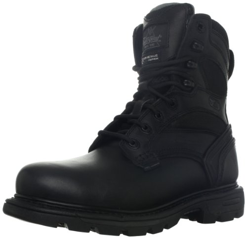 (Thorogood Men's 8-Inch Plain Toe Waterproof Insulated Boot,Black Leather,11 M US)