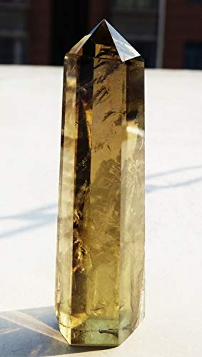 (New Edify Natural Smoky Citrine Quartz Crystal Point Healing 60g)