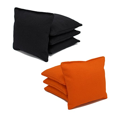 Cornhole Bags Set - (4 Black, 4 Orange) By Free Donkey Sports