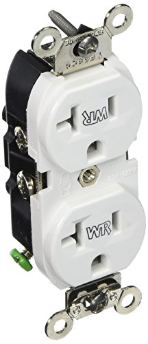 Leviton WBR20 W Receptacle Industrial Grounding