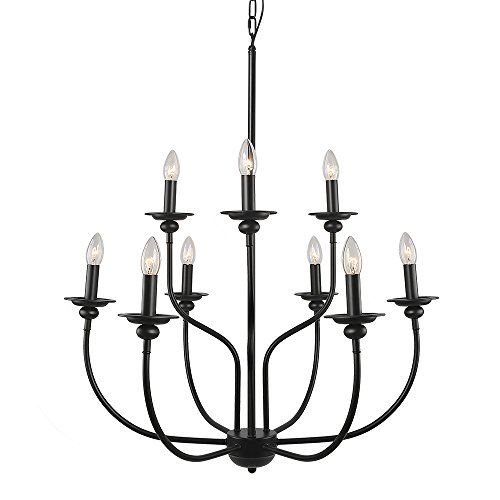 Laluz 9 light traditional chandelier lighting 2 tier pendant lights laluz 9 light traditional chandelier lighting 2 tier pendant lights chandeliers aloadofball Choice Image