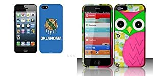 Combo pack Cellet Proguard with Oklahoma Flag for Apple iPhone 5 And For iPhone 5 - Rubberized Design Cover - Owl