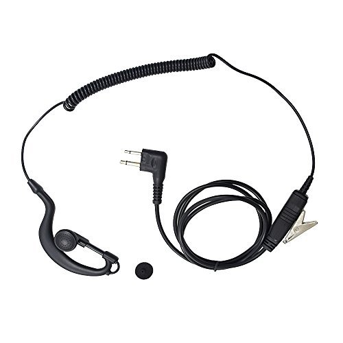 M head Earpiece Headset PTT With Mic for 2-pin Motorola Two Way Radio (1 -