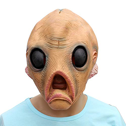 Halloween Rave Party Alien Headgear Dance Party Horror Funny Props Latex Mask ()