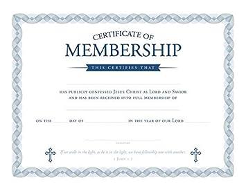 Amazon Certificate Of Membership