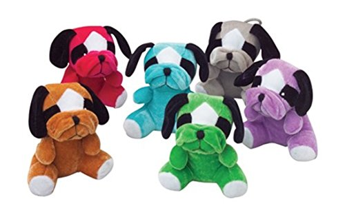 Set 12 Plush assorted bulldogs