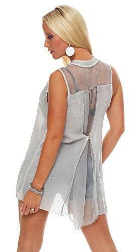 Livan`s - Camisas - Túnica - Básico - para mujer gris claro