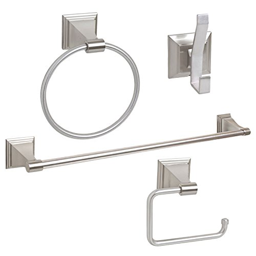 - 4-Piece Bathroom Hardware Accessory Set With 24