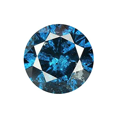 0.42 ct Blue Diamond Round Cut Loose Diamond Natural Earth-mined Enhanced (0.42 Ct Round Diamond)