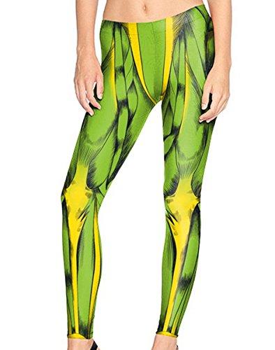Mosszra Attack On Titan Muscle Digital Print Fashion Stretch Pants Leggings -