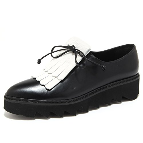 scarpe scarpa 6272N bianco CORDE BLANCHE nero women donna PILI LA nero shoes dSYqYxw6r