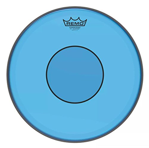 Remo Powerstroke 77 Colortone Blue Drumhead, 14