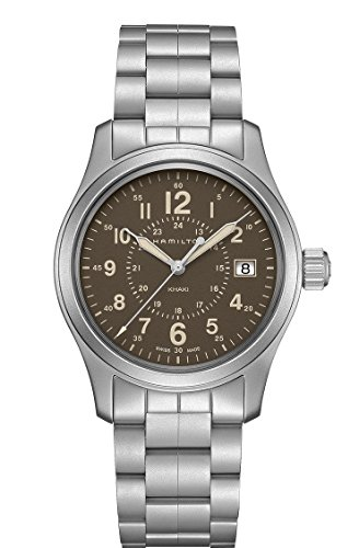 Hamilton Khaki Field Brown Dial Stainless Steel Mens Watch H68201193