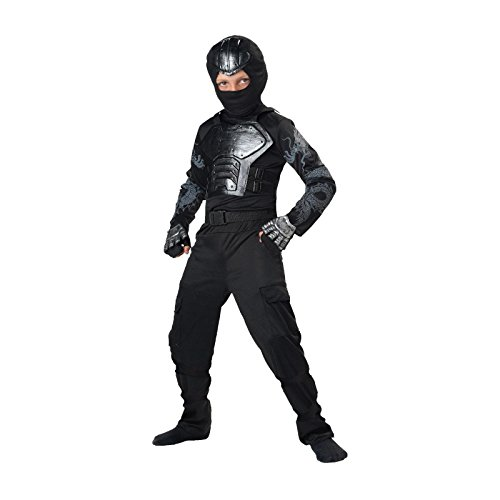 [Totally Ghoul Iron Fist Ninja Costume, Size Medium] (Iron Fist Costumes For Kids)
