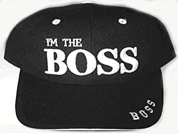 90b2a64f9a7 I m the Boss BLACK Baseball Cap