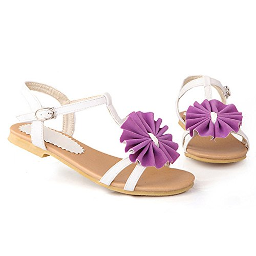 Coolcept Women T Strap Sandals Purple Iy6qGodV