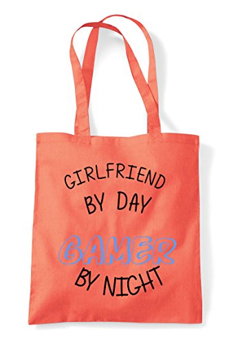 Statement Night Personalised By Day Coral Bag Gamer Tote Gaming Girlfriend Shopper tOpwYqaa