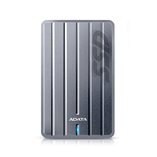 ADATA ASC660H-256GU3-CTI SC660H 256GB Ultra-Slim USB 3.1 External Solid State Drive