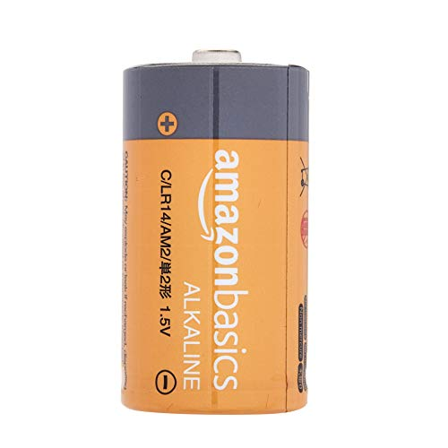 AmazonBasics C Cell 1.5 Volt Everyday Alkaline Batteries - Pack of 4