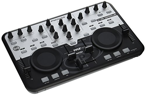 Pyle-Pro PMIDI100 Professional Digital MIDI Controller w/VIRTUAL DJ Software (Hercules Virtual Dj)