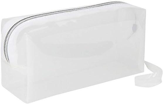 Uteruik - Estuche Transparente de Color sólido con Cremallera, para cosméticos o artículos de papelería para la Oficina o la Escuela: Amazon.es: Hogar