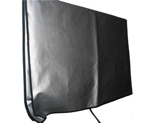 大型フラットスクリーンTV (70インチ) ビニールパッド入りダストシルバーカラーカバー レストラン、ホテル、マリナ、プールサイドの場所など屋外の場所に最適 (70インチ カバー - 63インチ x 4インチ x 38.5インチ)   B07HLPS6HT